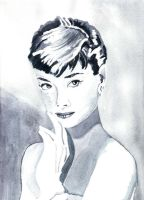 Audrey Watercolour by Dabull04