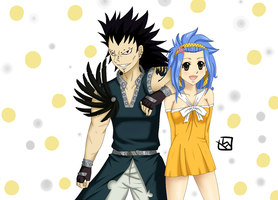 Gajeel and Levy by mewTalina
