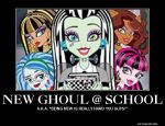 Monster High Wednesday#1: New Ghoul @ School by T-mack56