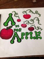 A is for Apple by destinyfabulousgoth