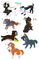 7 Puppies Adoptables II by ZoeyTheAussie