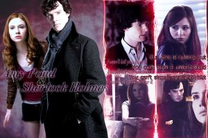 Amy Pond and Sherlock Holmes v2 by abask5