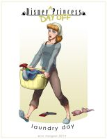 Disney Princess Day Off - Laundry Day by Silver-Falcon