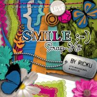 Smile :-) Scrap-Kit (Freebie) by Rickulein