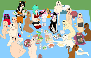 Lunch at the park open collab by YanderuAyu