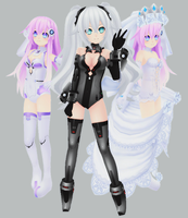 MMP - Purple Sister, Black Heart an Wedding Sister by xCOLOURz