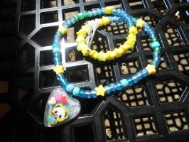 Starry Night Panda Resin Kandi by Lutrasaura