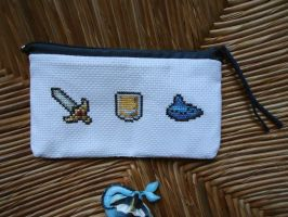 Cross stitch Legend of Zelda pencil bag by Miloceane