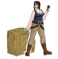 Sara Cader with a Box by Starfighterace-421