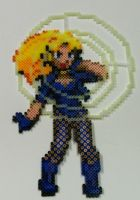 Perler Bead: Black Canary by thewiredslain