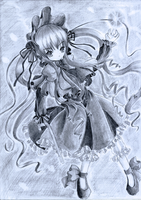 Rozen Maiden - Shinku by Kudo008