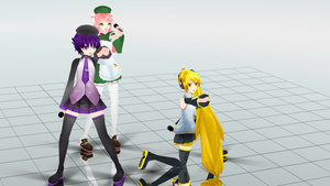 MMD Dream Fighter PD Models by Knuxfan23 by San-kun-likes-bacon