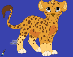 Little Isaac James Jr. as a leapord/lion cub by Tinkerbell0522