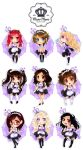 Mero Mero Maid Cafe Chibi Group - commission by MoonLilith