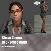Sheva Alomar RE5 Office Outfir by Adngel