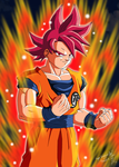 Son Goku Super Saiyajin God by Nostal