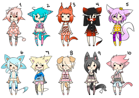 80 Point Adoptables COLLAB  (CLOSED) by WindyAdopts