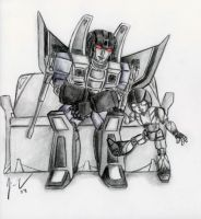 Thundercracker and Silver by Folkeye
