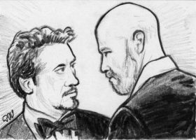 Tony Stark and Obadiah Stane by tdastick