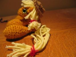 Mini Applejack Plushie Amigurumi 5 by RTakeshi
