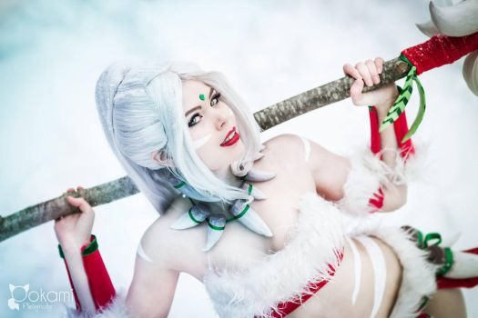 Cosplay - Snow Bunny Nidalee - League of Legends by TineMarieRiis