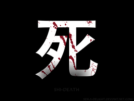Kanji of Death by seika-delight