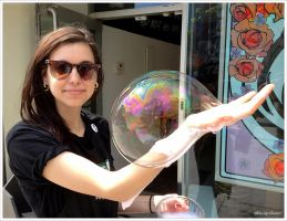 The Bubble Lady... by Michel-Lag-Chavarria