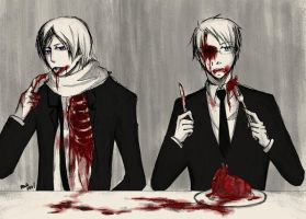 APH: Dinner- Alfred + Ivan by waterylt