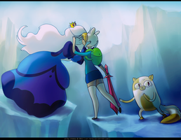 AT: Ice Queen x Fionna by Xin-tetsu