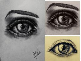 Sketch of an eye by Maheen-S