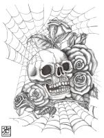 Skull N Roses by EverIris