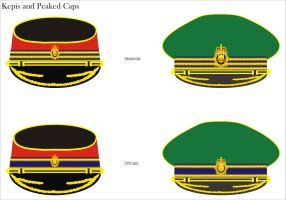 Imperial Guard Kepis and Peaked caps for Officers by Ienkoron