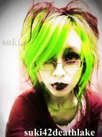 scarred for life  GREEN VER by death-lake