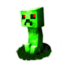 Creeper chibi by akitasilverwolf