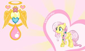 Fluttershy Crystal Wall by Evilarticfox