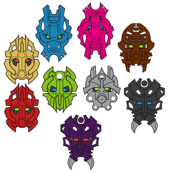 Custom Kanohi - Bionicle masks by Jhepty