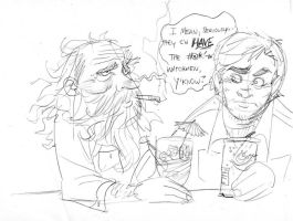 Spitting Venom with Alan Moore by thejeremydale