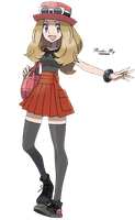 Serena Pokemon X and Y Girl Trainer Render png by ichigoluvsrukia