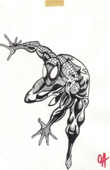 Spider man Pencil  Ink by kidswithguns90