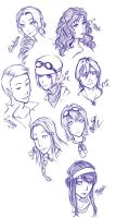 Ville Du Mort- Headshot Sketches by Miha-Hime