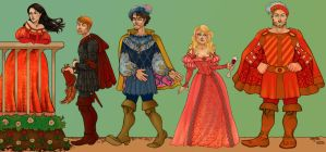 the Field: Tudors characters I by CourtneyTrowbridge
