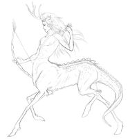 centaur sketch by WhiteGriffis