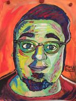 Self portrait painting by MichaelJLarson