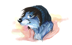 Digital watercolor headshot commission by Capukat