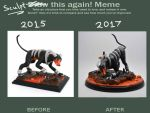 Sculpt This Again Meme: Houndoom by MedusaSculpts