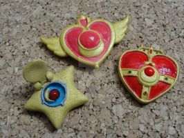 Sailor moon transformation Pendant by silverbeam