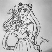 sailor moon  by WickedClownLuv