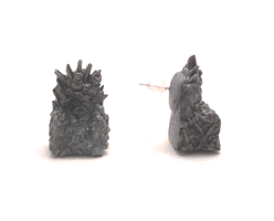 Games of thrones iron throne earrings by MiniSweetx