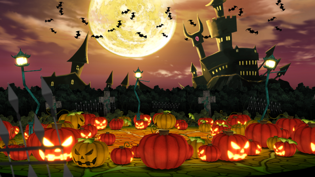 HALLOWEEN CASTLEYARD MMD DOWNLOAD STAGE by Hack-Girl