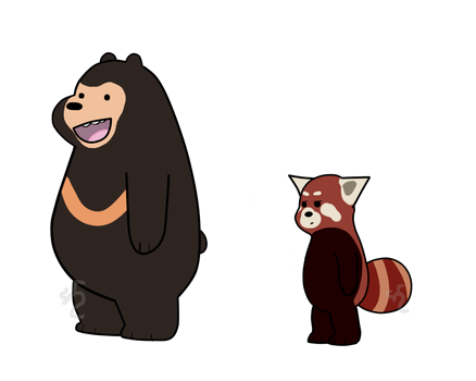 We Bare Bears- Sun and Red by Dragonflame7337